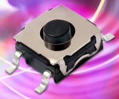 Sealed Tactile Switches suit high-reliability applications.