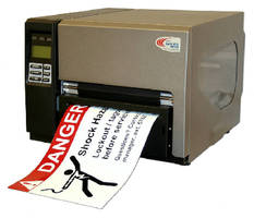 Thermal Transfer Printer produces industrial signs, labels.