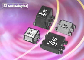 Gate Drive Transformers feature 1,500 Vdc isolation.
