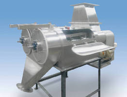 Centrifugal Screener features dual screening chambers.