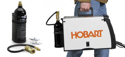 Portable CO2 Cylinder Kit mobilizes small MIG welders.