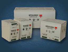 Switch Mode Power Supplies offer adjustable 24 Vdc output.