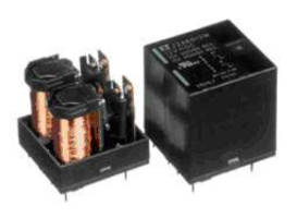 Compact DC Power Relay can switch up to 450 Vdc, 10 A.