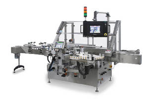 Pressure Sensitive Labeler handles up to 300 containers/min.