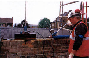 Structural Reinforcement strengthens parapet walls.