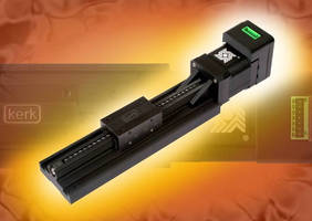 Linear Slide features integrated actuator/electronic drive.