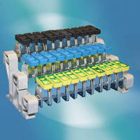 Busbar System accepts variety of terminal connectors.