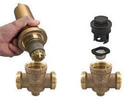 Water Pressure Reducing Valve has cartridge-style design.