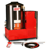Hot Water Pressure Washer delivers 7.8 gpm at 3,000 psi.