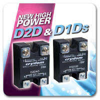 Solid State Relays suit high-current DC applications.