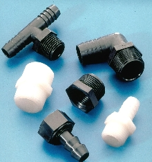 Fittings are available in nylon and polypropylene.