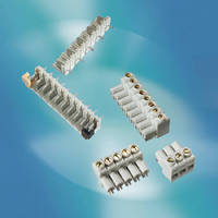 PCB Terminal Blocks offer current capacity up to 18 A.