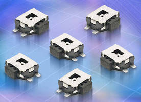 Side-Actuated Tactile Switch can be used in slim designs.