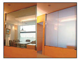 Glass Fabrications change from transparent to opaque.