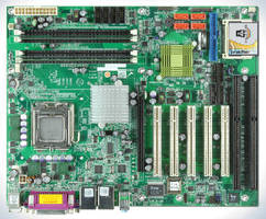 Motherboard supports PCIe, PCI, and ISA cards.