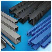Wire Duct is offered in slotted blue/black and solid types.