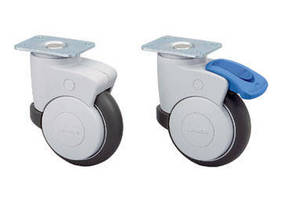 Casters feature dual brake system.