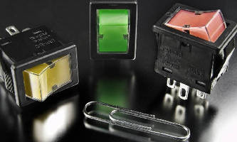 Illuminated Rocker Switches feature snap-in mounting.