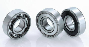 Deep Groove Ball Bearings offer minimized noise/friction.