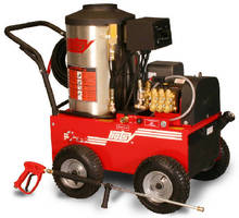 Portable Hot Water Pressure Washer uses 8.2 hp motor.