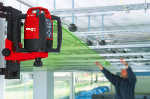 Rotating Laser Level features built-in alignment system.