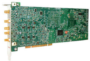 High-Speed Digitizers have up to 4 GS on-board memory.