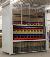 Vertical, Motorized Carousel optimizes parts storage.