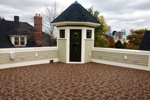 Permeable Composite Pavers are made of recycled material.