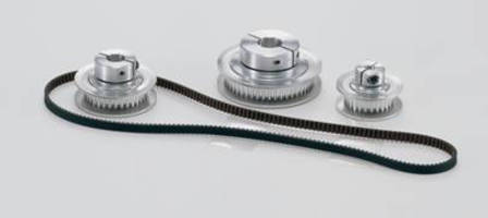 Miniature Drive Belt System features arched tooth profile.