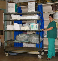 Motorized Linen Cart hauls loads up to 700 lb.
