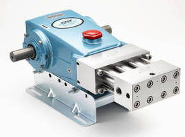 Triplex Plunger Pump delivers 3 gpm at 10,000 psi.