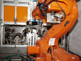 Water Deburring, Washing Systems employ agile robot.
