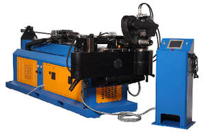 Tube and Pipe Bender features heavy steel structure.