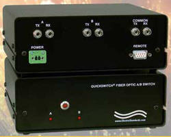 Fiber Optic A/B Switch supports dual wavelengths.
