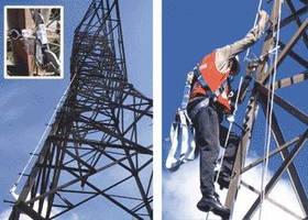 Cable System offers fall protection when climbing towers.