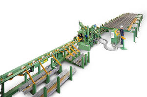 Tower Manufacturing Machine processes angle sections.