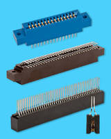 Card Edge Connectors feature double-contact-point pin design.