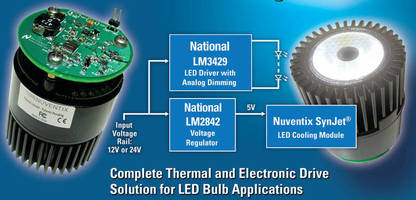 National and Nuventix Introduce New Reference Design for LED Bulbs