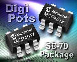 Digital Potentiometers feature low power design.