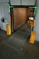 Safety Communication System detects forklifts in trailer.