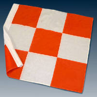 Flags enhance vehicle visibility at airports.