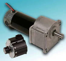 DC Gearmotors offer integral speed control option.