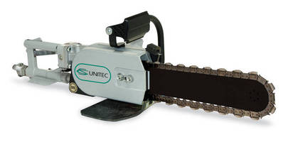 Chain Saw features diamond chain for optimized cutting.