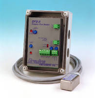 Doppler Flow Switch controls flow from outside pipe.