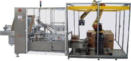 Case Packer/Palletizer features FANUC M-20iA robot.