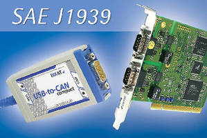Data Communications Software enables SAE J1939 applications