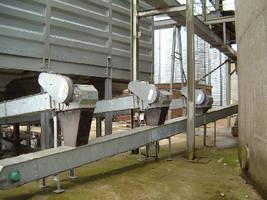 Chain Conveyors and Bucket Elevators use en-masse principle.