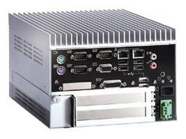 Fanless Embedded Box Computer is optimized for expansion.