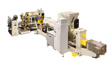 Sheet Extrusion System suits inline thermoforming/roll stock.