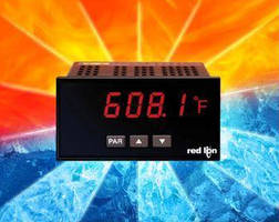 Temperature Panel Meter offers multiple temperature inputs.